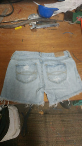 Girls ABERCROMBIE Jean Shorts - size 8