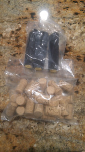Wine corks and shrink wraps