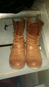 Real leather boots