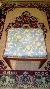 Vintage sewing stool with storage