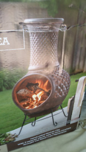 CLAY CHIMINEA 42 INCHES BEAUTIFUL FOR YOUR YARD