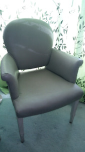 Grey leather vintage chairs