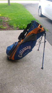 CALLAWAY GOLF STAND AND CARRY BAG!! ONLY $60!!