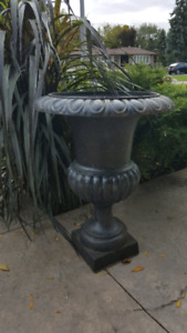 Extra large cast iron planter urn 3 available