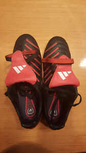 Adidas Traxion Cleats (red and black) - Women's size 9