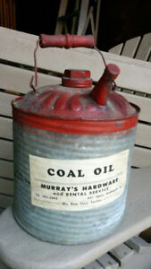 Vintage Rare Original 1940's Hamilton Murray's Coal Oil Can!!