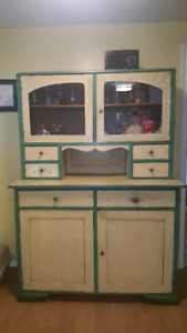 Antique Primitive Hand made Cabinet -  Hutch Sideboard