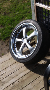 4 -  CHROME RIMS  18's  IN GOOD USED CONDITION (5x100)