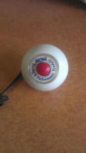 B&M White shifter Knob with 12 Volt Button Switch