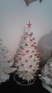Ceramic Christmas Tree with multiple lights per branch