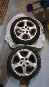 4 Mazda Protege Tires/Wheels On Alloys