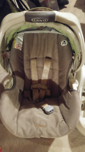 GRACO beige car seat w/ bucket AND I added on to hood!!!!