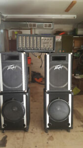 Speakers and Peavey Amp