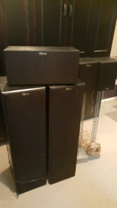 Nuance powered Tower 5.1 speakers with Pioneer Receiver