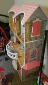 Costco Doll House with Elevator and Misc Furniture St. Thomas