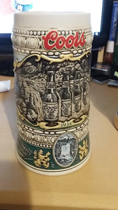 German Beer Steins (1970s) and one Coors (1990)