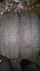 2 pneus 195-65-15 sur rims volk 5x112