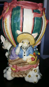 Fitz and Floyd Rabbit Cookie Jar