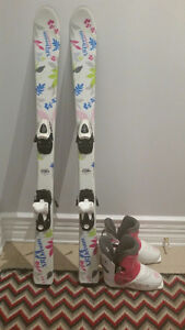 Girls Downhill Skis & Boots 110 cm / 251 mm
