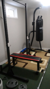 Cap barbell flat bench
