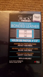 Black front cover bonded leather  Photo Album Size 4 x 6 inches