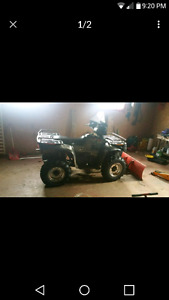 Sell or Trade for a TRUCK 2002 Polaris Sportsman 700 with plow