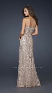 Beautiful NEW!!! LaFemme Sequin Dress style 17458 size 8
