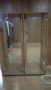 Glass cabinet only $50 and free speakers