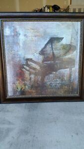 "Large Print 43""X43"" Grand Piano"