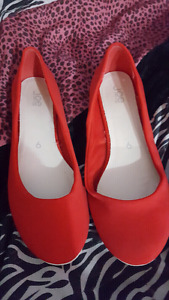 Red flats $20 or best offer size 9