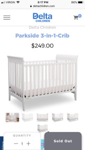 3 in 1 crib and mattress