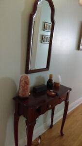 Meuble et miroir