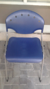 Blue and Grey Utility Chair