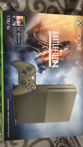 Xbox one 1TB battlefield 1 deluxe edition