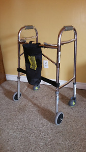 FIXED-WHEEL WALKER and OXYGEN CANISTER HOLDER $40 EACH
