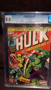 CGC COMICS AND RAWS FOR SALE....HULK 181,JIM 83 AND MORE