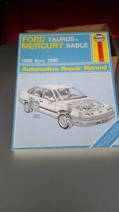 Haynes Repair Manual Ford Tempo & Mercury Topaz 1986 - 1990