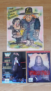 WWF The Undertaker Wrestling Memorobilia