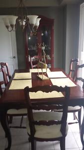 Hand carved dinning room set