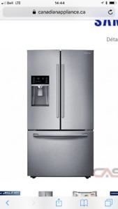 Réfrigérateur Samsung neuf. Encore emballage intérieur. 1900$