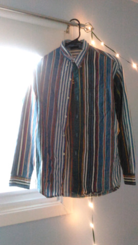 Vintage men's Bon Homme striped button-up  shirt