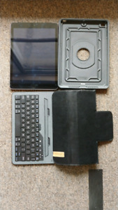 iPad 5th gen LTE capable with Otterbox case and leather bluetoot