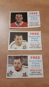 Rare 1966-67 General Mills Cereal Box Hockey Cards