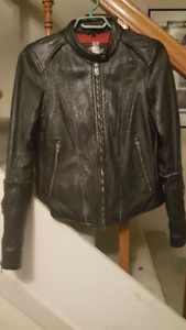 Womens XS Branded Harley Davidson Leather Motorcycle Jacket