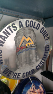 COORS LIGHT BEER . WHO WANTS A COLD ONE??