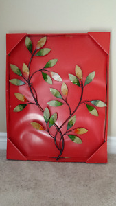 Iron Wall Hanging Green Leaves