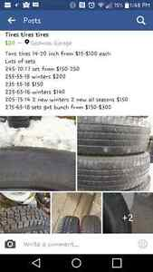Tires tires tires 14-20 inch 100s in stock