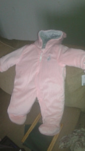 New Full Pink Snowsuit for 12 month n up Girls.