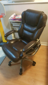Executive Brown Leather Office Chair