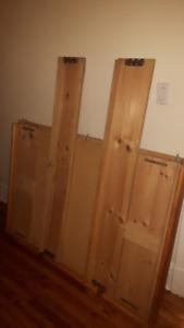base de lit DOUBLE - bed base - en bois